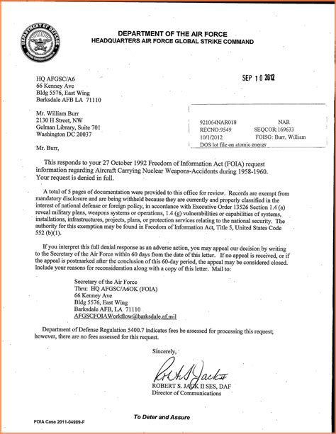 10+ Department Of The Air Force Letterhead Template