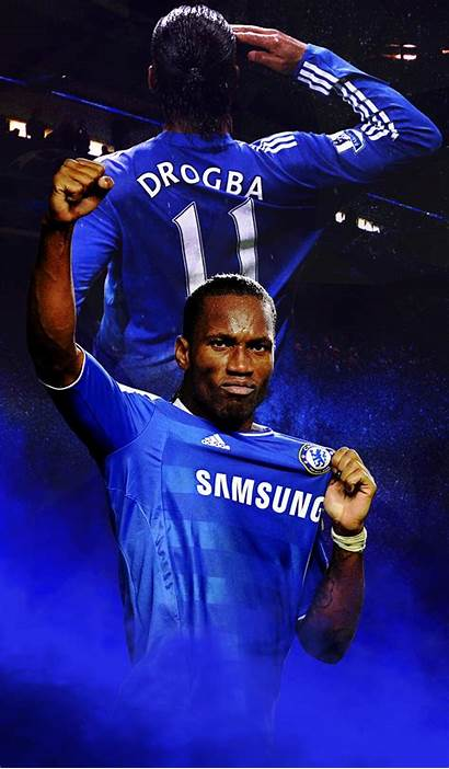 Drogba Chelsea Didier Wallpapers Mobile Players Iphone