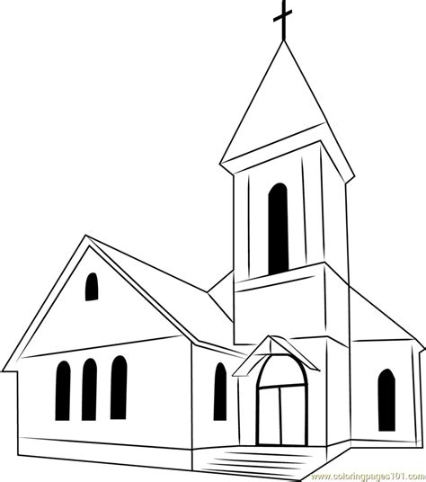 church coloring pages inside a church colouring pages sketch coloring page