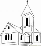 Church Coloring Pages Perfect Coloringpages101 sketch template