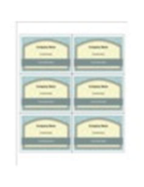 Avery 74541 Word Template Templates Vintage Box Name Badge Insert 6 Per Sheet Avery