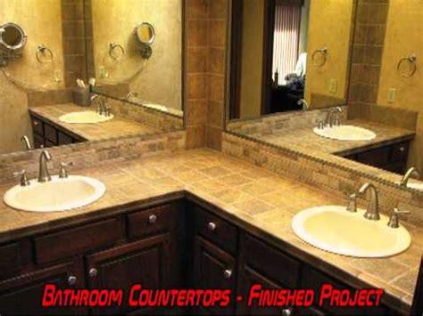 Tile Bathroom Countertop Ideas by Bath Bathroom Vanity Tile Countertop Remodel Grout
