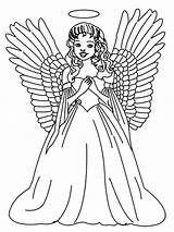 Angel Coloring Pages Christmas Angels Printable Print Colouring Printables Sheets Stitch Tattoo Adults Anime Tree Female Portfolio Laughing Holiday Guardian sketch template