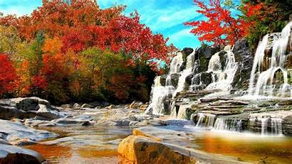 Autumn Wallpapers Nature Waterfall Forest Landscape Trees