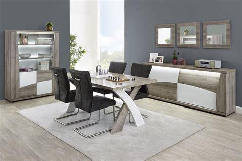 Salon  Ensemble Salle à Manger Moderne Coloris Blanc Et