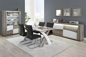 Salon Ensemble Salle Manger Moderne Coloris Blanc Et