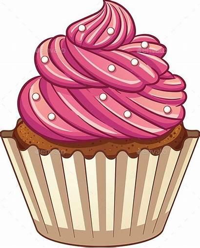Cupcake Cartoon Cupcakes Simple Clipart Vector Clip