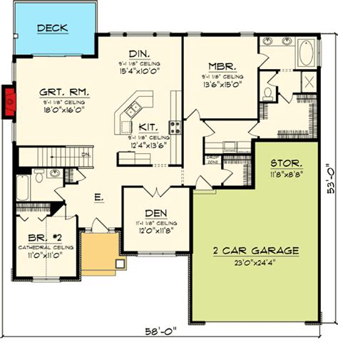 Ranch House Plans Open Floor Plan by Plan 89845ah Open Concept Ranch Home Plan House Plans