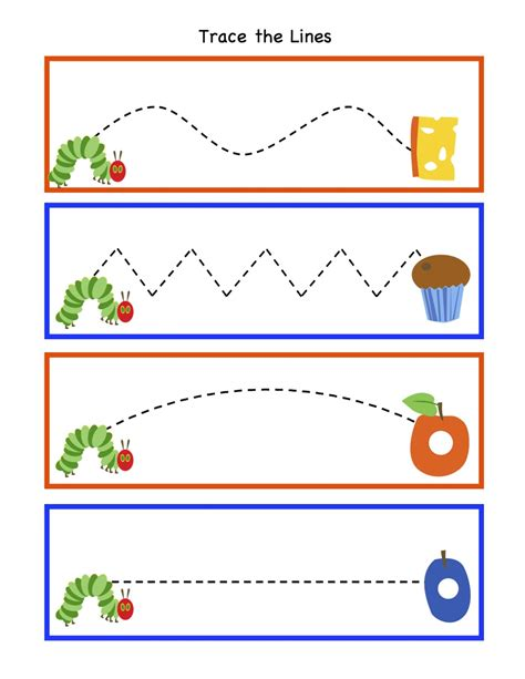 preschool printables february 2013 177 | Cat Trace the Lines
