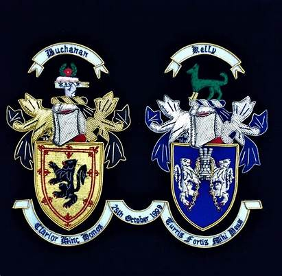 Coat Arms Double Embroidered Celtic Knot