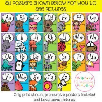 alphabet posters queensland print  pre cursive fonts