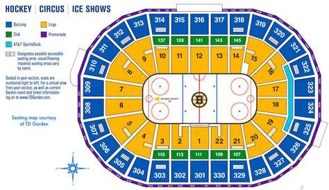 td garden seating chart td garden boston sports and entertainment arena