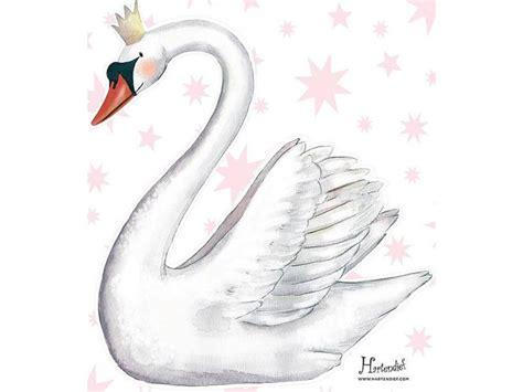 Swan Flower Tutu schwan kleb an sticker kinderzimmer swan real