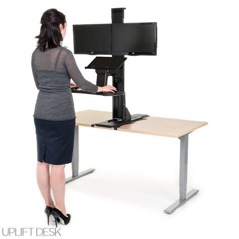 motorized standing desk converter shop uplift standing desk converters