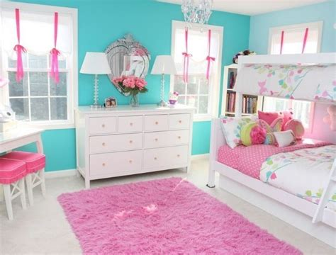Girls Bedroom In Pink And Teal Big Kids Girls And Pink