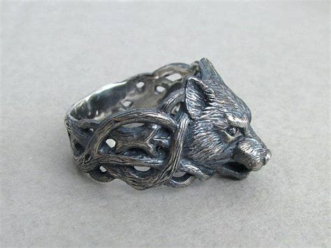Wolf Ring.wolf Jewelry.silver Wolf.animal From Usmar On Etsy
