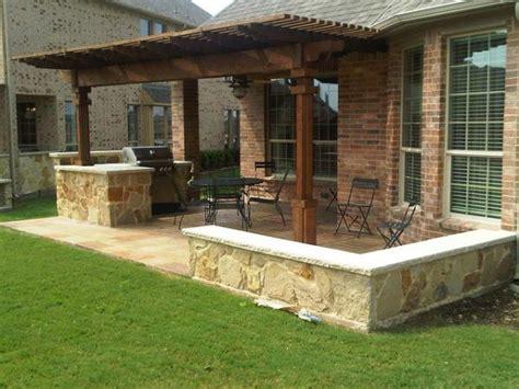 backyard kitchen design ideas houston outdoor kitchen with cedar pergola lone
