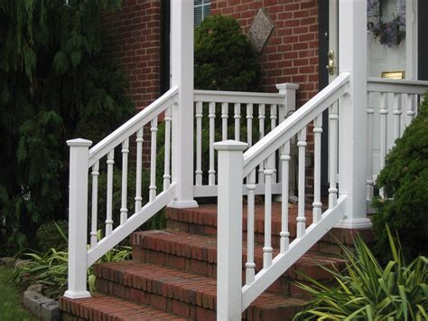 outdoor banister the best materials for front porch railings bistrodre