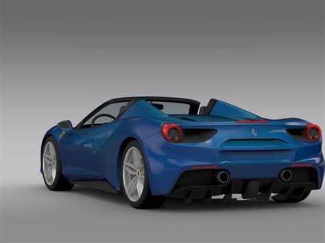 Check out 488 gtb variants images mileage interior colours at autoportal.com. Ferrari 488 GTB Spider 2016 3D Model MAX OBJ 3DS FBX C4D LWO LW LWS - CGTrader.com