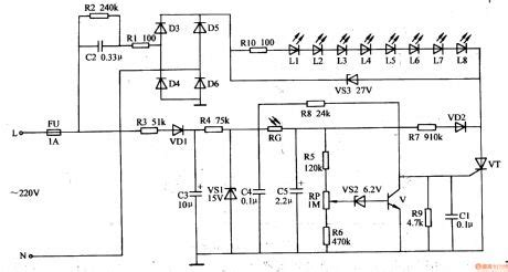 Light Operated Night Lamp Control Circuit