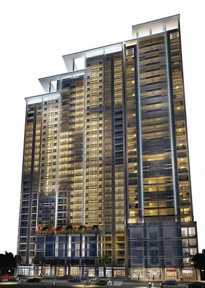 Greenbelt Hamilton Makati Megaworld Facade Night Address