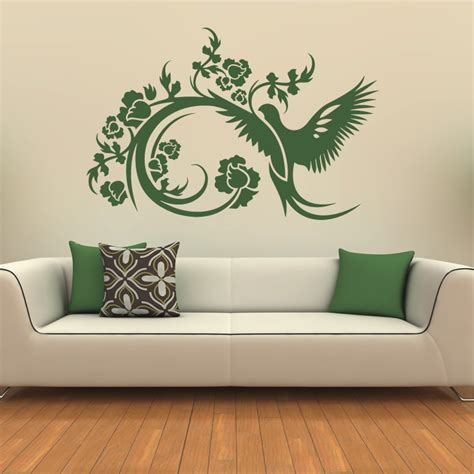Wall Decor Stickers by Floral Decorative Bird Wall Stickers Wall Decals