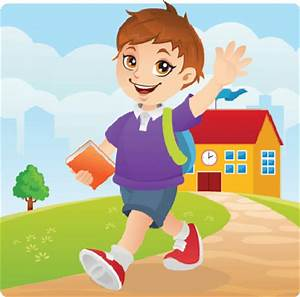 Girl Go To School Clipart - ClipartXtras