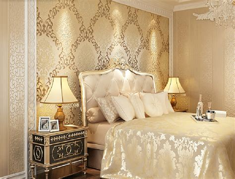 retro bedroom wallpaper long fiber vintage wallpaper bedroom decoration european style