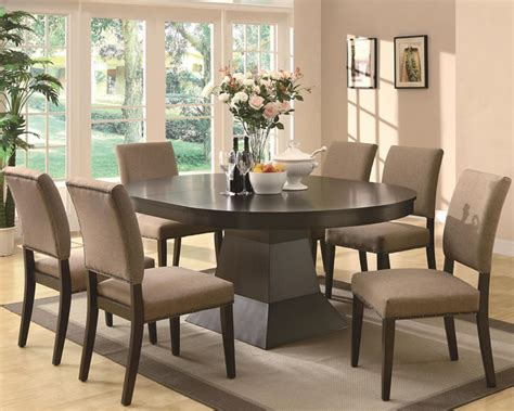 chicago furniture contemporary dining set  oval top