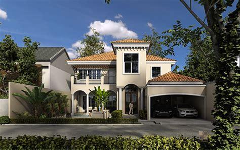 Floor Single Story Mediterranean House Plans Exterior