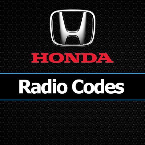 honda radio code unlock car codes civic crv accord accura