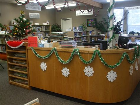 christmas decorations for school beyond survival in a school library