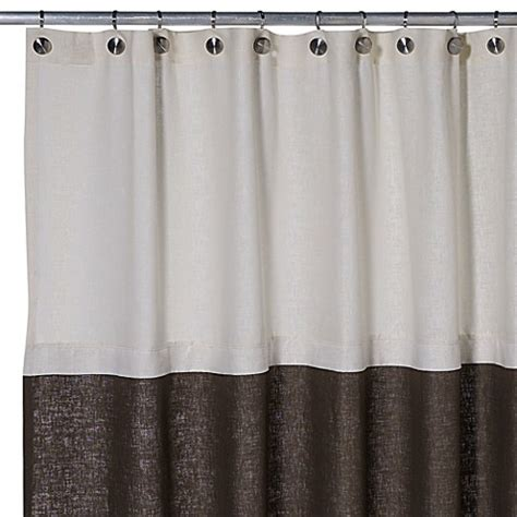 75 Shower Curtain by Soho 72 Inch X 75 Inch Linen Shower Curtain In Brown Bed