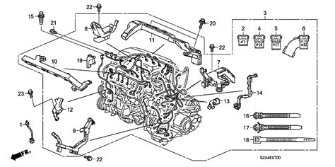 Honda Fit Wiring Harnes Diagram by 32110 Rn0 B20 Genuine Honda Engine Harness