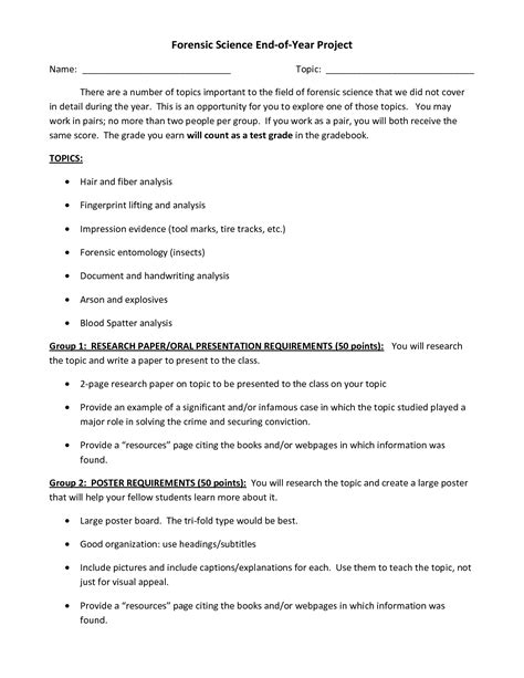 16 best images of forensic science worksheet answers