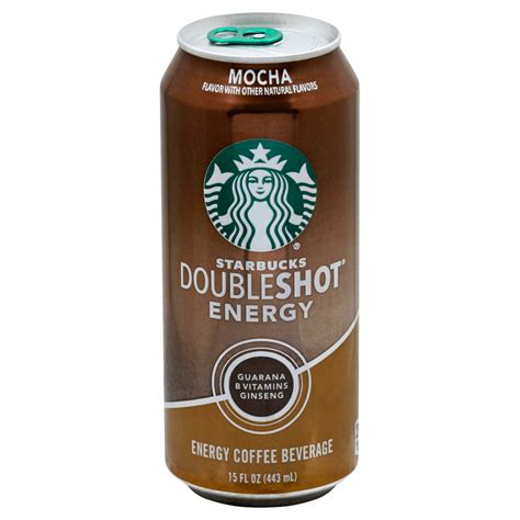 Double shot of espresso with steamed milk and foam. Starbucks Double Shot Mocha Energy Coffee Drink - Shop ...