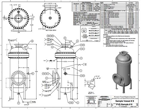 Pressure Vessel  Drawings  Kezar Engineering