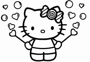 Hello Kitty Coloring Page Face - Kids Coloring Page Gallery