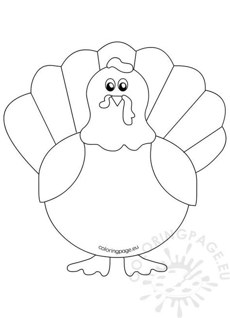 printable turkey coloring pages  kids coloring page