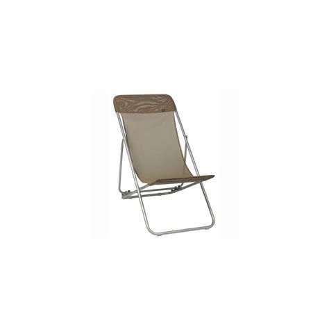lafuma chaise longue chaise longue pliante 39 havane 39 transatube lafuma
