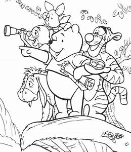 winnie the pooh and friends coloring pages - winnie pooh coloring pages coloring home