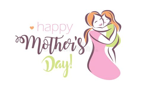 happy mothers day greeting card template stock vector