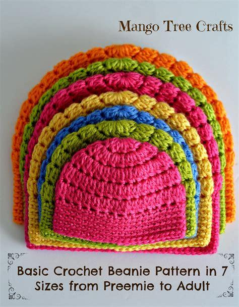 crochet beanie pattern mango tree crafts free basic beanie crochet pattern all sizes