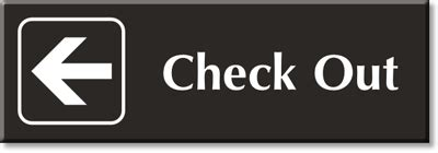 check in check out store signs retail store signs