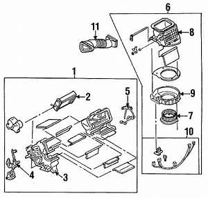 Mazda Miata Hvac Blower Case Assembly  W  O Ac  Heater
