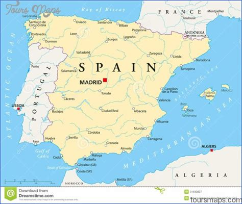 spain map toursmapscom