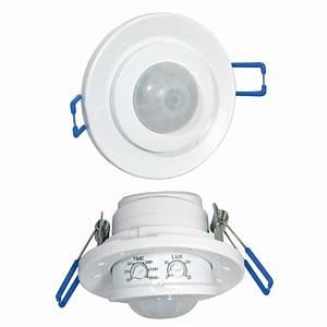 Ampoule Détecteur De Présence : d tecteur de mouvement encastrer 360 plastique blanc ~ Edinachiropracticcenter.com Idées de Décoration