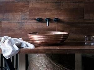 Accessoire Salle De Bain Cuivre : quelle vasque design rustique pour votre salle de bain ~ Melissatoandfro.com Idées de Décoration