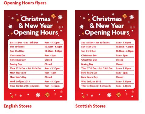 christmas opening times template festival collections