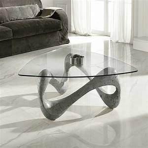 Couchtisch Glas Grau : design couchtisch jandina in grau stein ~ Markanthonyermac.com Haus und Dekorationen